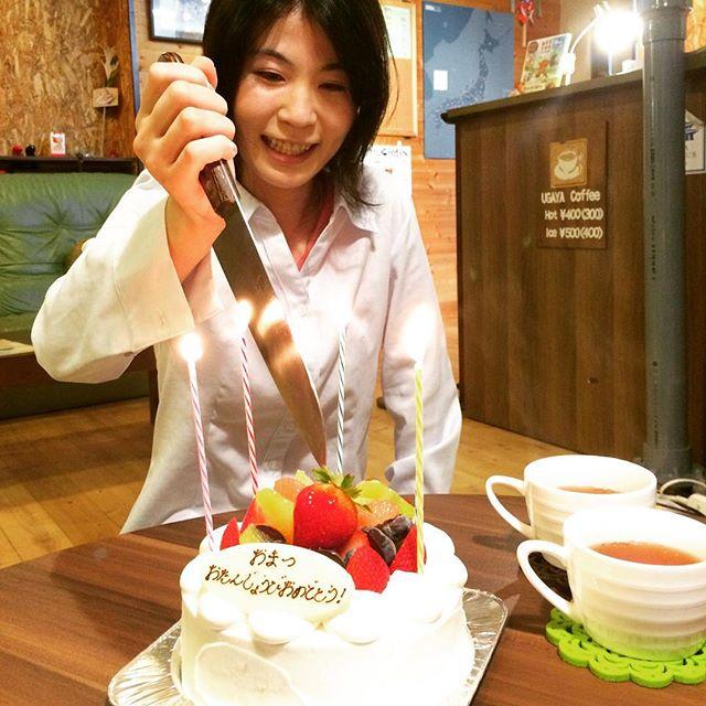 おまつ誕生日おめでとう!!!!!…つーか、怖いわっ!笑#奈良 #ウガヤゲストハウス #スタッフの誕生日