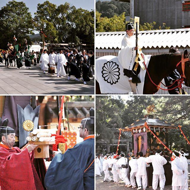 石上神宮例祭(ふるまつり)②行列が御旅所へ巫女さんの神楽も。詳しくはアメブロで!『奈良のおすすめブログ』プロフィールのリンクからどうぞ! #奈良 #奈良が好き #石上神宮 #ふるまつり #例祭 #巫女さん #神楽 #美しい #祭り #渡御行列